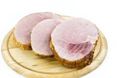 美食的烤猪肉片式 免版税图库摄影