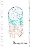 美洲印第安人传统标志dreamcatcher 免版税库存照片