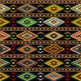 美洲印第安人无缝的样式 库存图片