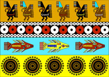 美洲印第安人的种族样式:阿兹台克人, Mayans,印加人 也corel凹道例证向量 免版税库存图片