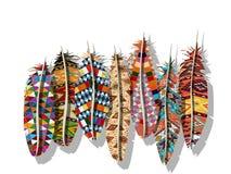 美洲印第安人羽毛 库存图片