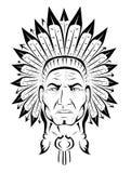 美洲印第安人院长 免版税图库摄影