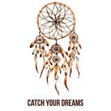 美洲印第安人dreamcatcher象 皇族释放例证