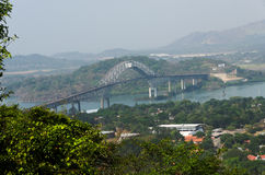 美洲大桥,巴拿马 库存照片