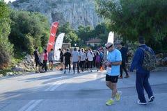 美洲狮事件跑湖-雅典,希腊 免版税库存照片