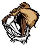 美洲狮徽标吉祥人豹向量 免版税库存照片