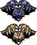 美洲狮徽标吉祥人豹突袭的向量 图库摄影