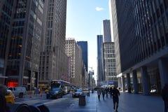 美洲纽约, NY的大道 免版税库存照片