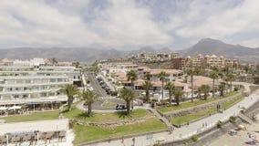 美洲de las playa tenerife 在夏季的鸟瞰图 库存照片
