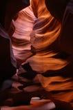 羚羊亚利桑那峡谷槽 库存照片