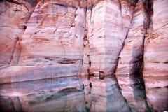 羚羊亚利桑那峡谷粉红色反映墙壁 库存照片