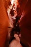 羚羊亚利桑那峡谷那瓦伙族人 免版税库存照片