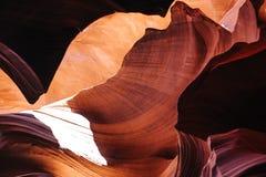 羚羊亚利桑那峡谷降低页 库存照片