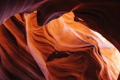 羚羊亚利桑那峡谷降低页 免版税库存图片