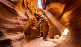 羚羊亚利桑那峡谷降低 免版税库存图片