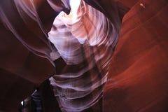 羚羊亚利桑那峡谷页上面的美国 库存照片
