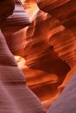羚羊北亚利桑那的峡谷 库存图片