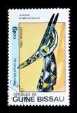 羚羊头(苏丹),非洲艺术serie,大约1984年 库存图片