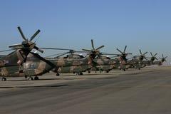 羚羊属直升机尾标 库存图片