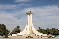 羚羊属纪念碑在艾因,阿拉伯联合酋长国 库存照片