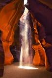 羚羊峡谷光轴 库存图片