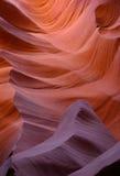 羚羊峡谷形成降低槽 库存照片