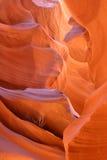 羚羊峡谷形成降低槽 免版税库存照片