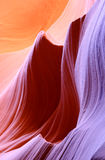 羚羊峡谷形成降低槽 免版税图库摄影