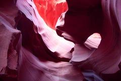 羚羊峡谷惊人的内部  库存照片