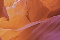 羚羊峡谷摘要关闭 免版税库存图片