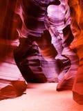 羚羊峡谷槽 库存图片