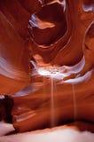 羚羊峡谷落的沙子 免版税库存照片
