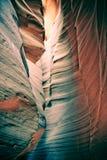羚羊峡谷被雕刻的s墙壁 免版税库存照片