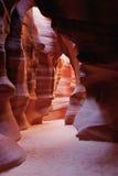羚羊峡谷许多墙壁 库存照片