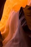 羚羊峡谷降低槽 免版税库存照片