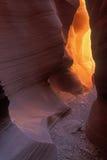 羚羊峡谷降低槽 图库摄影
