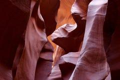 羚羊峡谷降低 免版税库存照片