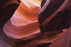 羚羊峡谷降低 免版税库存图片