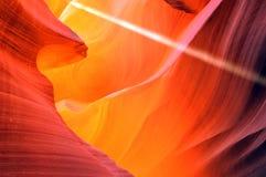 羚羊峡谷降低 图库摄影