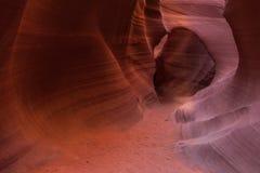 羚羊峡谷降低 库存图片