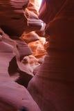 羚羊峡谷降低 库存照片