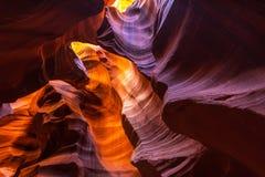 羚羊峡谷,亚利桑那,透视风景在秋天 库存图片