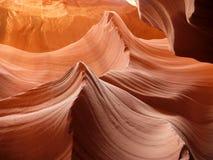 羚羊峡谷-波浪-美国 图库摄影