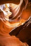 羚羊峡谷-页-亚利桑那 库存图片
