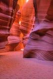 羚羊槽孔峡谷 免版税库存照片