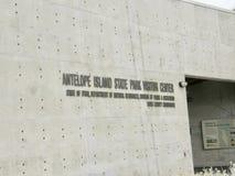 羚羊海岛国家公园访客中心,盐湖城,犹他 免版税库存照片