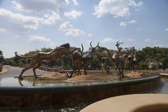 羚羊, Sun City,南非铜雕塑  库存图片