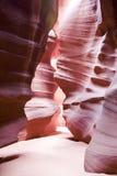 羚羊arizonas自然秀丽的峡谷 图库摄影