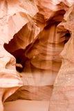 羚羊arizonas自然秀丽的峡谷 免版税库存照片