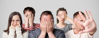 羞辱或罪状的概念 免版税库存图片